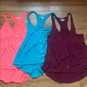 Bundle of 3 AE babydoll tanks